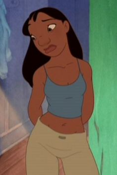 I heard somewhere that Nani from LILO and Stitch was the only real looking female from Disney. Hey I believe it. :-)