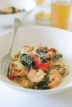This angel hair pasta dish paired with seared shrimp is perfect  for special occasions. You'll impress guests with this mouth watering recipe.