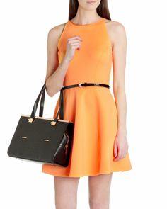 Leather tote bag - Black | Bags | Ted Baker FR
