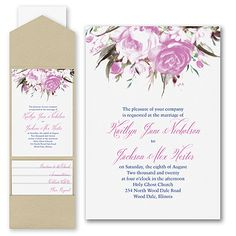 Enchanted Garden - Floral - Invitation with Pocket • 30-40% OFF! Promo Code 30OFFORDER +ship&tax  40% off most orders over $500 CLICK LINK Please message me as I miss comments. I love to help!