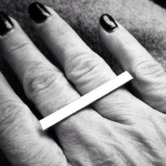 more photos e9994 d729a Sterling Silver Rectangle Ring - two Finger Ring