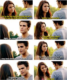 """For Whom the Bell Tolls"" - Elena & Stefan Vampire Diaries Memes, Vampire Diaries The Originals, Best Tv Couples, Vampier Diaries, Sad Movies, Original Vampire, Mystic Falls, Stefan Salvatore, Delena"