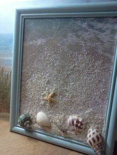 Beach Treasures Framed Art #home #decor #shells #sand