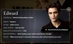 Edward Cullen-New Moon-The Cullens- by hvyilnr, via Flickr