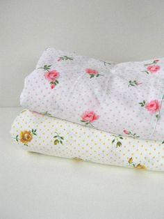 Vintage Floral Sheets | vintage floral and polka dot flat sheets