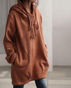 Autumn hood loose long sleeved Coat by MaLieb
