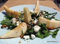 Rocket, Pear and Feta Salad - Kalofagas - Greek Food & Beyond - Kalofagas - Greek Food & Beyond