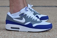 #Nike Air Max 1 Grey Blue