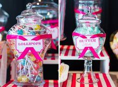 DIY Circus Wedding Teal and Hot Pink