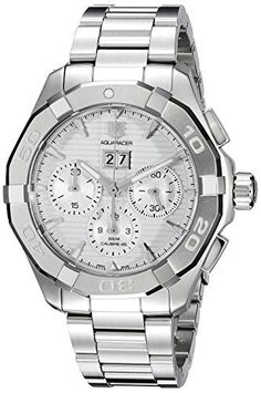#TAG #Heuer Men's CAY211Y.BA0926 Analog Display Swiss Automatic Silver #Watch  Full review on: http://toptenmusthave.com/best-mens-watches/