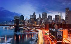 #manhattan winter #new york night #river ice #motion picture #orange lights