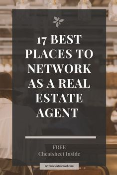 Top 17 spots to network as a REALTOR®️ and ideas to meet new people today. - Top 17 spots to network as a REALTOR®️ and ideas to meet new people today. Networking can be a c - Real Estate School, Real Estate Career, Real Estate Leads, Real Estate Tips, Selling Real Estate, Real Estate Investing, Real Estate Broker, Real Estate Classes, Real Estate Business Plan