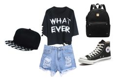 """""""Untitled #26"""" by zanna4 ❤ liked on Polyvore featuring WithChic and Converse"""