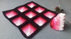 Crochet Ripple, Chunky Crochet, Crochet Squares, Crochet Stitches Patterns, Afghan Crochet Patterns, Knitting Charts, Knitting Stitches, Crochet Bedspread Pattern, Crochet Flower Tutorial