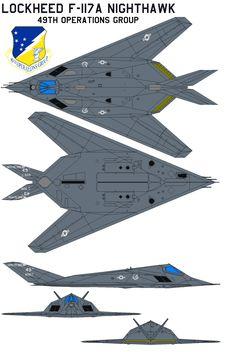 Lockheed F-117A Nighthawk  49th OG by bagera3005.deviantart.com on @DeviantArt