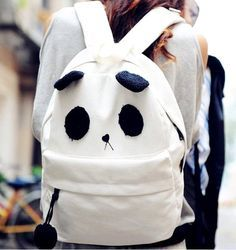 Panda backpack please! I freaking love this. And pandas💜 Cute Backpacks, Girl Backpacks, School Backpacks, Unique Backpacks, Girls Rolling Backpack, Cute Panda, Panda Panda, Panda Bears, Mk Bags