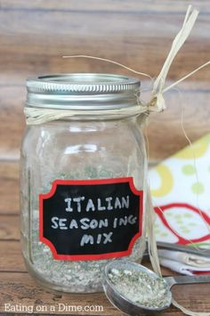 Copycat Good Seasons Italian Dressing Mix is easy to make and saves you half the cost! http://eatingonadime.com/copycat-good-seasons-italian-dressing-mix/