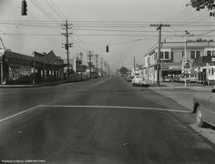 1952, the intersection of North Albina and North Lombard Avenues from Vintage Portland.