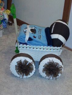 Diaper wagon - football
