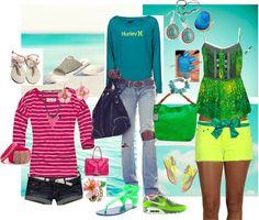 """summer time livin easy"" by samantha-edlin on Polyvore"