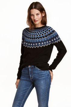 Pullover in maglia jacquard   H&M