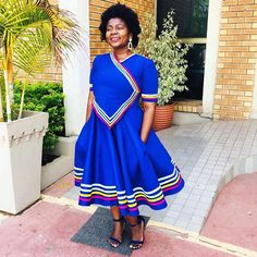 African Dresses For Kids, African Outfits, Latest African Fashion Dresses, Pedi Traditional Attire, Traditional Fashion, African Patterns, African Prints, South African Traditional Dresses, African Lace Styles