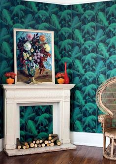Palm Jungle Wallpaper by Cole & Son - Contemporary Restyled - Lime Lace £77.95 #contemporary #wallpaper #designer #feature