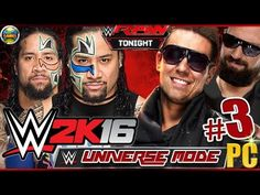 WWE 2K16: Universe Mode - Jimy and Jey Uso vs DamienMizdow and The Miz  ...