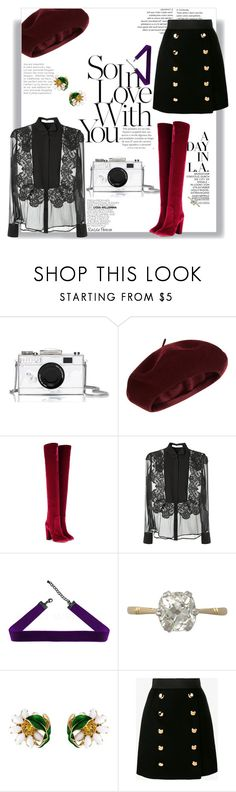 """""""Over The Knee Boots + Velvet + Transparency"""" by railda-pereira ❤ liked on Polyvore featuring Kate Spade, Accessorize, Aquazzura, Givenchy and Dolce&Gabbana"""