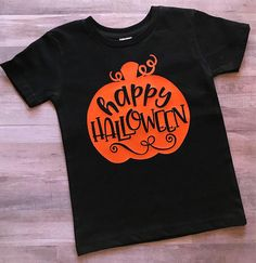 FREE SHIPPING / Halloween shirt / Happy Halloween / pumpkin /