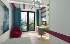 Design Projects, Loft, Curtains, Interior Design, Bedroom, Furniture, Home Decor, Nest Design, Blinds