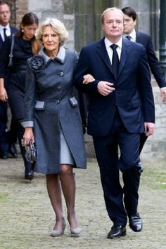Princess Irene of The Netherlands and her son Prince Carlos de Bourbon de Parme arrive at the Old Church in Delft, The Netherlands, for the memorial of Prince Friso, 02.11.13.