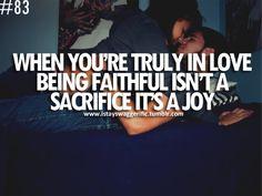 Be faithful.
