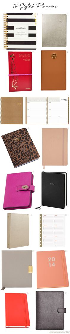 Stylish 2014 Planners, Diaries and Agendas