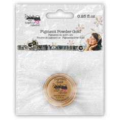 Pigment Powder Gold - Donna Salazar with Scrapbook Adhesives by 3L