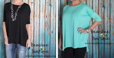Spring has found its hottest tunic! The shorter sleeve on this top makes it the perfect final touch to any outfit. This is great to pair with your leggings and boots or with your go to jeans. COLORS:  Black Coral Mint White  SIZES:  Small/Medium (0-6) Medium/Large (6-12)  Top is made of 96% Rayon 4% Spandex.Model is a size 1-2 and is wearing a size Small