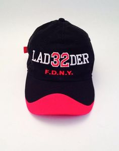 eeb8ccef5d722 FDNY Ladder 32 Black Red Cap Hat One Size Collectable Fire Dept of New York  NY  CAP  BaseballCap