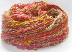 Handspun Yarn & Crochet Pattern Kit  FALLING LEAVES  by PurpleLamb