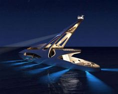 The Audax Yacht Lets You Have a Pirate Party in the Dark #yachts trendhunter.com