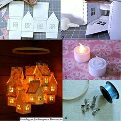 Village de Noël et le pour l'éclairer... ...