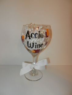 Harry Potter inspired wine glass by TheSweetPinkBowtique on Etsy, $9.00
