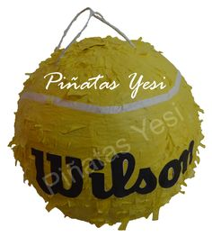 Piñatas Artesanal hecha a mano de Pelota de Tenis o Padel.