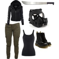 Purge Outfit by noranellers on Polyvore featuring Ralph Lauren, Lucky Brand, Dr. Martens and GAS Jeans