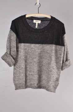 Cool contrasting knit. #menswear #knitwear