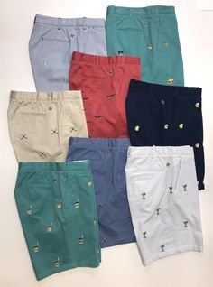 Living well would not be complete without our World Famous Embroidered Cisco Shorts. These preppy shorts are available in many colors, embroidery, and fabrics. Embroidered Shorts, Embroidered Clothes, Men Shorts, Casual Shorts, Short Men, Men's Outfits, Printed Shorts, Preppy, Mary