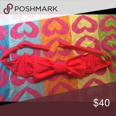LOLLI SWIM BIKINI BOW TOP Worn once. Matching bottoms are also available for purchase in my closet. You can buy the top separate or bundle with the bottoms. Lolli Swim Bikinis