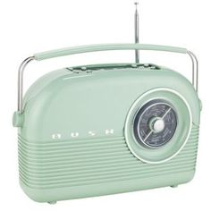 Bush - Classic Retro DAB Radio - Cornflower Blue: With a Retro design this Bush DAB Radio in cornflower blue adds vintage character to your… Digital Timer, Digital Radio, Sage Green Kitchen, Green Kitchen Accessories, Retro Radios, Argos, Retro Design, Classic, Gadgets