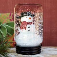 The kids would LOVE this DIY Holiday Craft - Mason Jar Snowglobes (just a jar, superglue, water, glitter, and cute objects from the dollar tree) Could even make mini ones with baby food jars!