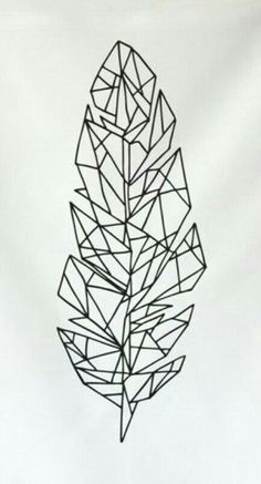 Geometric feather