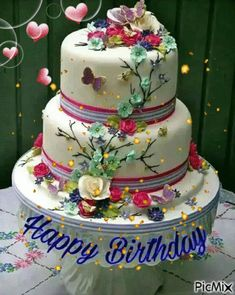 Happy Birthday Flowers Wishes, Happy Birthday Wishes For A Friend, Beautiful Birthday Wishes, Happy Birthday Cake Images, Happy Birthday Wishes Images, Happy Birthday Video, Cute Happy Birthday, Happy Birthday Celebration, Happy Birthday Candles